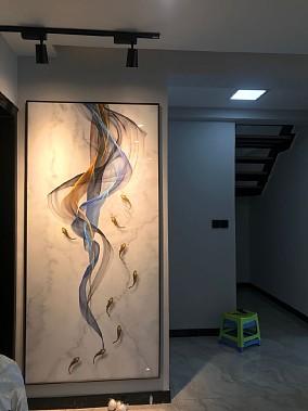 银滩雅苑96平米美式风格设计方案玄关美式田园设计图片赏析