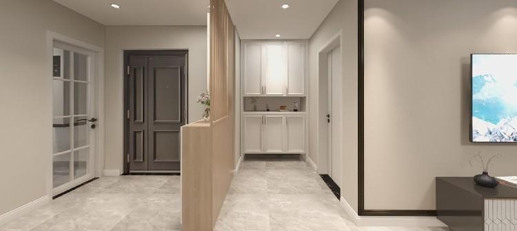 现代温馨风格的三居室,超大门厅的入户观感