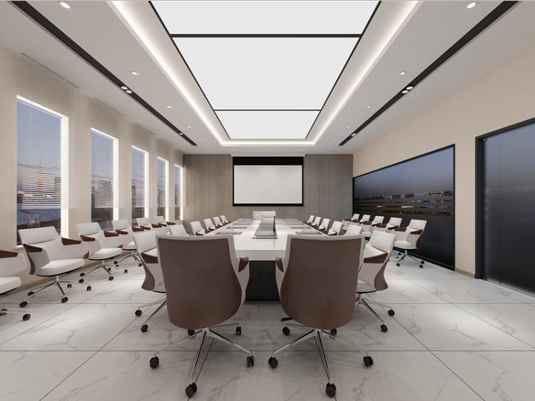 倆個小會議室改造成一個大會議室