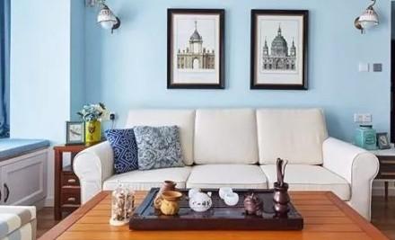 125平四房田园风,多变的家客厅1图