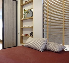 147平三室日式风格,家的气息卧室日式设计图片赏析