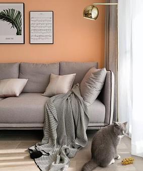 72平米北欧风两居室客厅北欧极简设计图片赏析