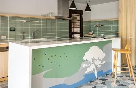 231㎡透亮景观退休宅,中式别墅餐厅2图