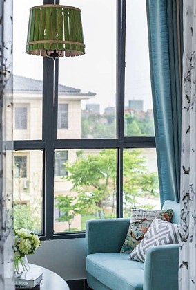 135平庄严优雅三居室现代阳台其他设计图片赏析