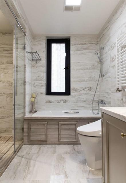 美式三房:优雅甜蜜的小资情调卫生间2图