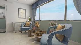 122m²简美风格雅居,超有格调优雅风厨房美式田园设计图片赏析
