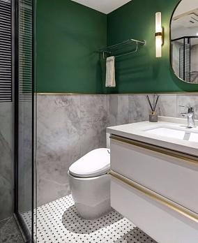 121㎡现代休闲风三居室,绿意盎然卫生间其他设计图片赏析