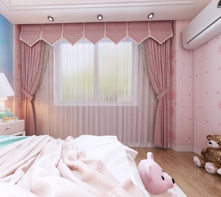 这套三居室也太好看了吧~好爱公主房卧室1图
