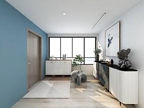 两房单身公寓现代装修案例玄关现代简约设计图片赏析
