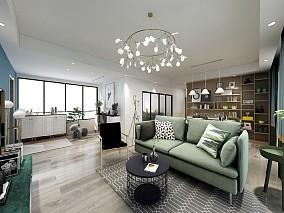 两房单身公寓现代装修案例17354399