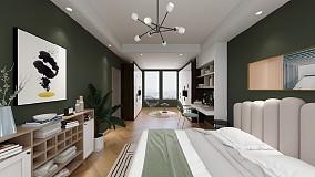 两房公寓北欧装修案例卧室1图欧式豪华设计图片赏析