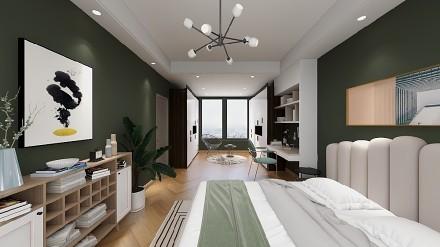 两房公寓北欧装修案例卧室1图