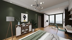 两房公寓北欧装修案例卧室2图欧式豪华设计图片赏析