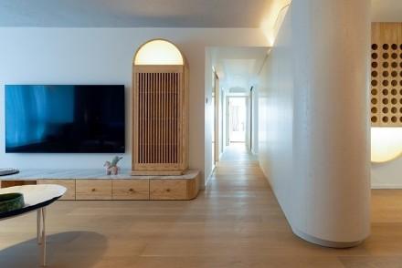 123平米日式风缥缈优雅客厅