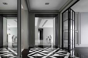 185㎡极致高级灰,生活里的清雅浪漫玄关欧式豪华设计图片赏析