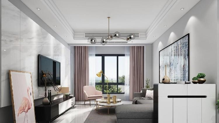 100平米三室一廳現代簡約