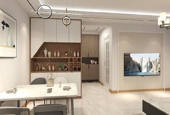 10万精装103平米现代风格三居室