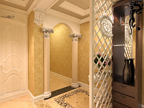 简单90平米两室两厅平面图