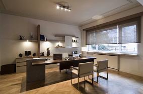 2013现代风格小户型最热门书房书架书柜电脑桌椅子飘窗窗台装修图片