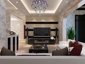 精选大小141平混搭四居客厅装修实景图片