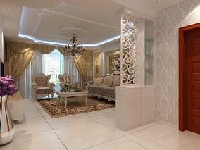 中式风格客厅酒柜装修图片