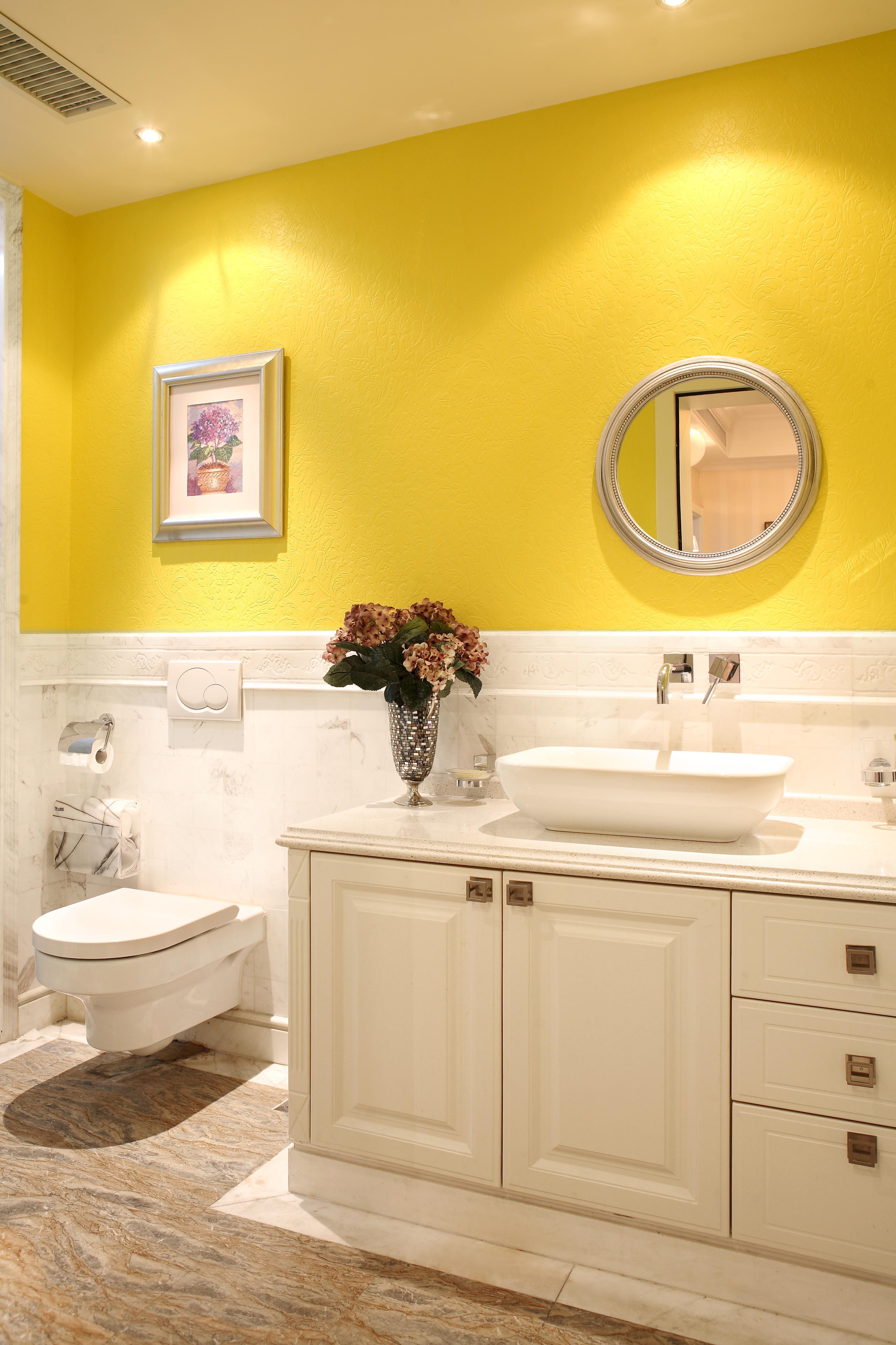 欧式小卫生间浴室柜家装效果图卫生间欧式豪华卫生间设计图片赏析