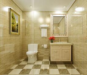 精选混搭三居卫生间装修效果图片