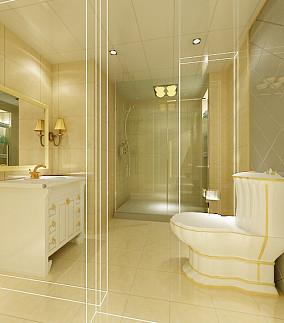 精选91平米三居卫生间混搭装修设计效果图片