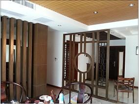 面积125平别墅玄关中式实景图片