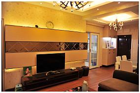 2018精选面积76平混搭二居客厅装修效果图片大全