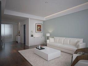 热门103平大小客厅三居混搭效果图片欣赏
