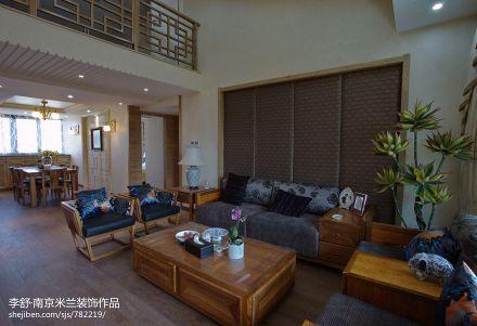 面积135平别墅客厅中式装修欣赏图