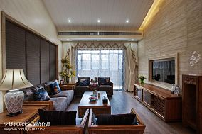 精美111平方中式别墅客厅欣赏图片别墅豪宅中式现代家装装修案例效果图