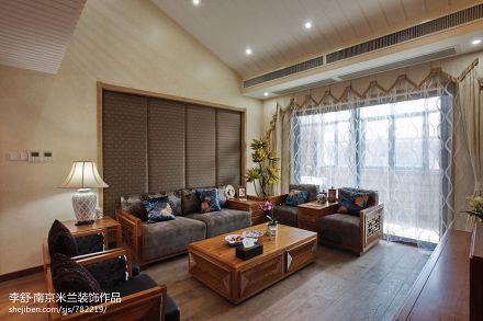 精美大小115平别墅客厅中式装修设计效果图