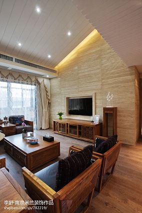 浪漫241平中式别墅效果图片大全别墅豪宅中式现代家装装修案例效果图
