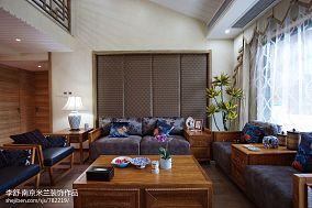 热门138平米中式别墅客厅效果图片大全别墅豪宅中式现代家装装修案例效果图