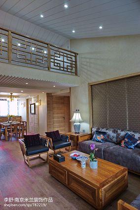 精选大小117平别墅客厅中式欣赏图片大全别墅豪宅中式现代家装装修案例效果图