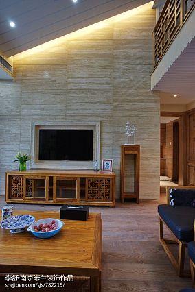 优雅879平中式别墅实景图片别墅豪宅中式现代家装装修案例效果图