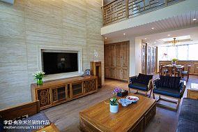 平中式别墅客厅效果图欣赏别墅豪宅中式现代家装装修案例效果图