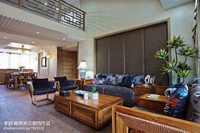 优雅254平中式别墅客厅设计美图别墅豪宅中式现代家装装修案例效果图