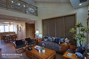 精美111平米中式别墅客厅欣赏图片别墅豪宅中式现代家装装修案例效果图