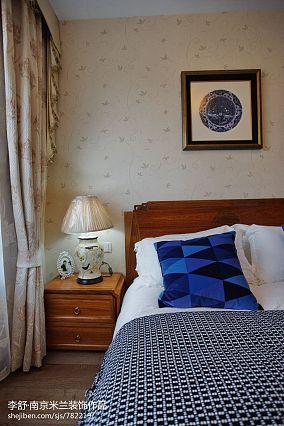 温馨662平中式别墅卧室装潢图别墅豪宅中式现代家装装修案例效果图