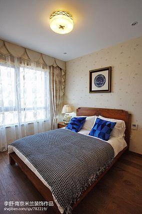精选面积140平别墅卧室中式装修图片欣赏别墅豪宅中式现代家装装修案例效果图
