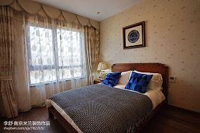 华丽245平中式别墅卧室装修图别墅豪宅中式现代家装装修案例效果图