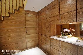 热门116平米中式别墅过道装修效果图片欣赏别墅豪宅中式现代家装装修案例效果图