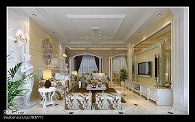 新古典家装客餐厅设计