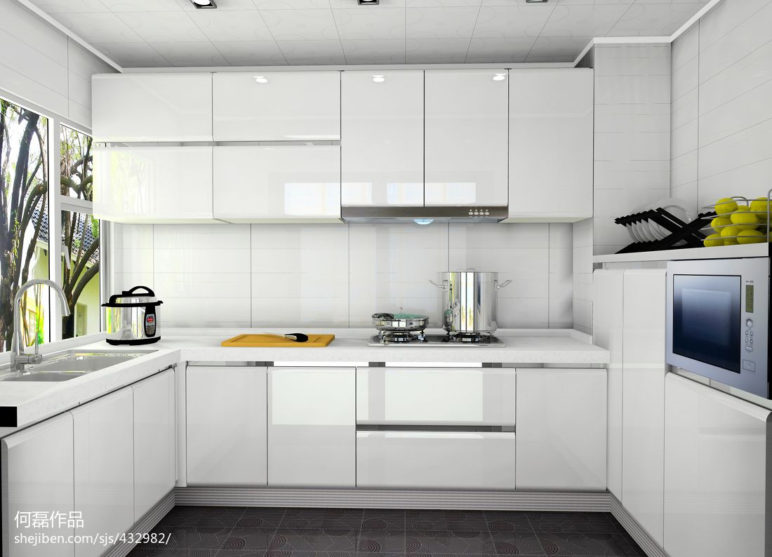 what white paint to use for kitchen cabinets 开放式厨房白色整体橱柜效果图 土巴兔装修效果图 28378