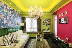 优雅72平混搭二居客厅实景图