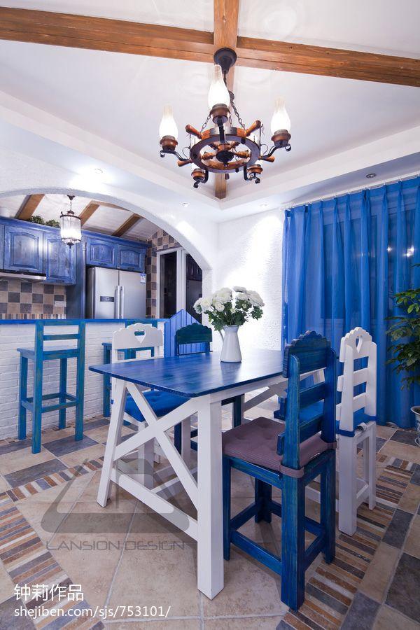 大气80平混搭复式装饰图厨房吊顶潮流混搭餐厅设计图片赏析