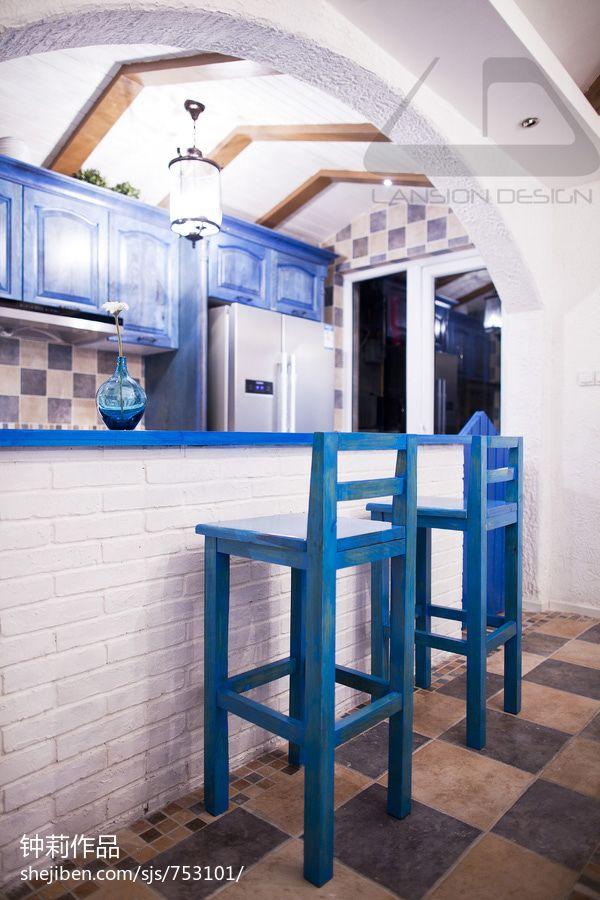 温馨71平混搭复式案例图厨房潮流混搭餐厅设计图片赏析